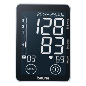 Màn hình cảm ứng siêu nhạy máy đo huyết áp bắp tay điện tử Beurer BM58 là được trang bị màn hình cảm ứng cỡ lớn giúp bạn dễ dàng thao tác và theo dõi các chỉ số.