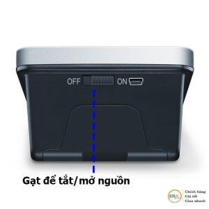 Để tránh máy tự động kích hoạt, bạn nên tắt nút nguồn phía sau nếu không sử dụng