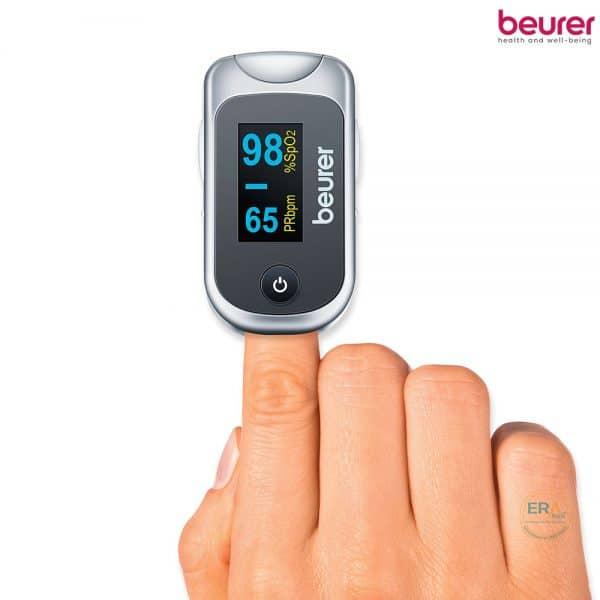 Máy đo nồng độ oxy trong máu SpO2 và nhịp tim Beurer PO40_2