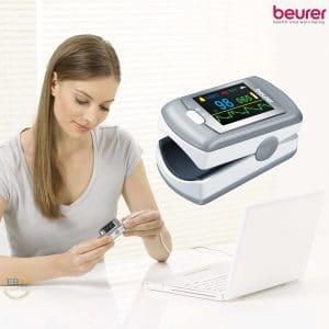 Máy đo nồng độ oxy trong máu SpO2 và nhịp tim Beurer PO80_life