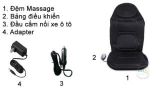 Đệm massage ô tô Lanaform LA110304-chair