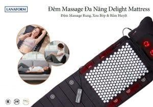Đệm massage toàn thân Lanaform Delight LA110316-đa năng