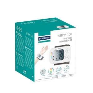 Máy đo huyết áp cổ tay Lanaform WBPM-100 hộp sản phẩm