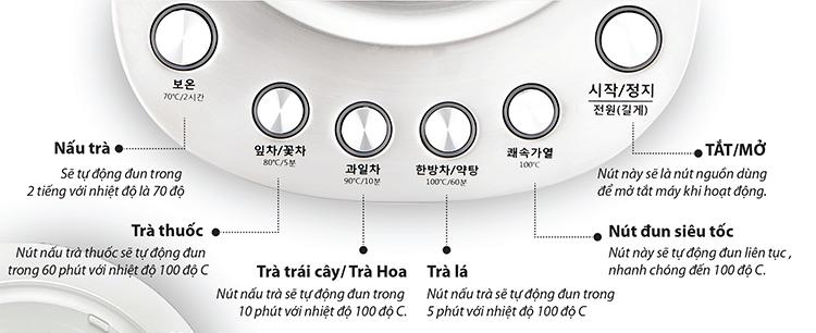 Bình nấu trà đa năng HUROM TM-B02FSS