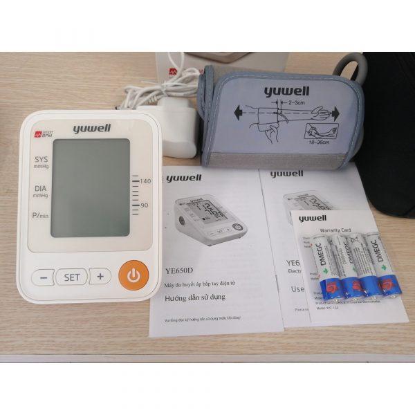 Máy đo huyết áp bắp tay Yuwell YE650D-life