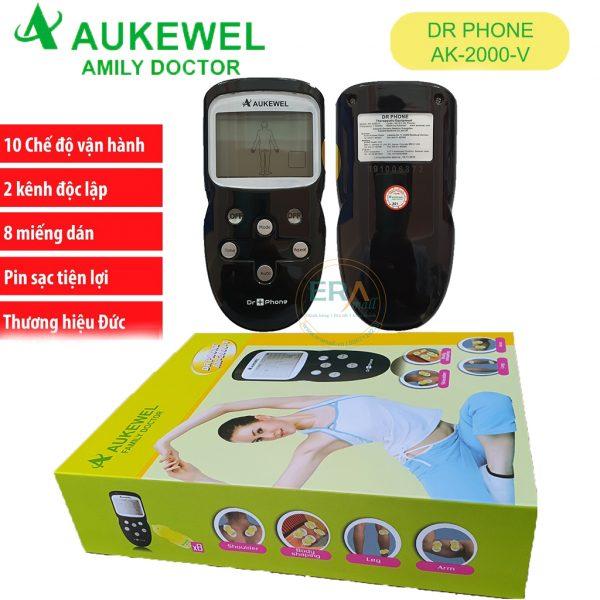 Máy massage xung điện trị liệu Aukewel
