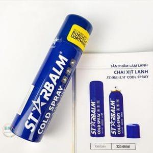 Chai xịt lạnh giảm đau Starbalm150m