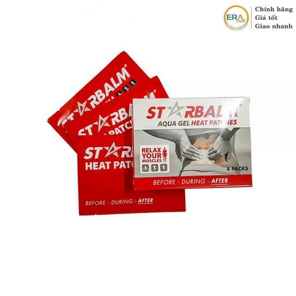 Hộp 4 miếng dán nhiệt giảm đau Starbalm