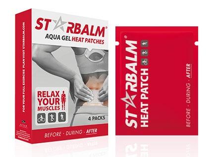 Hộp 4 miếng dán nhiệt giảm đau Starbalm có thành phần nước và do đó sẽ không gây kích ứng trên da. Được sử dụng sau khi chơi thể thao khi gặp tình trạng bị đau cơ bắp hoặc cơ bắp của bạn quá mệt mỏi.