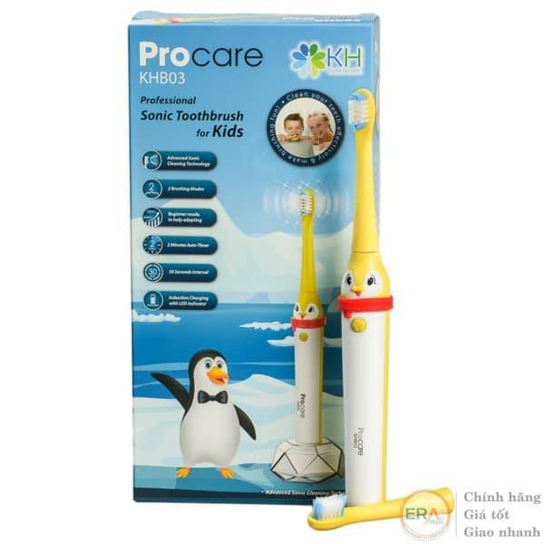 Bàn chải đánh răng điện trẻ em Procare KBH03