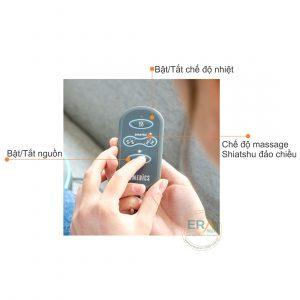 Bảng điều khiển gối massage Shiatsu gel 3D HoMedics SGP-1100H dễ sử dụng