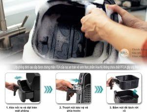 Cosori CO158-AF chống dính hiệu quả - dễ dàng vệ sinh