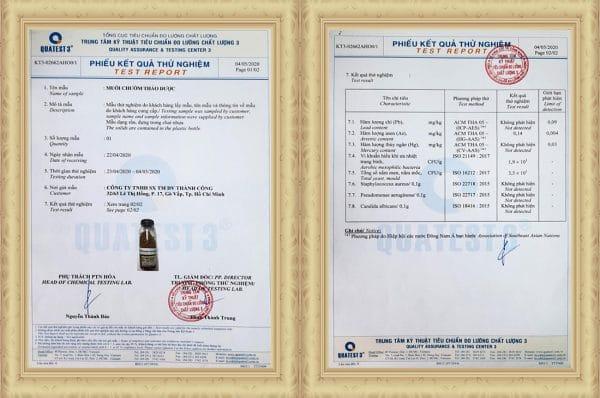 muối chườm thảo dược TACO 850gr-chứng nhận