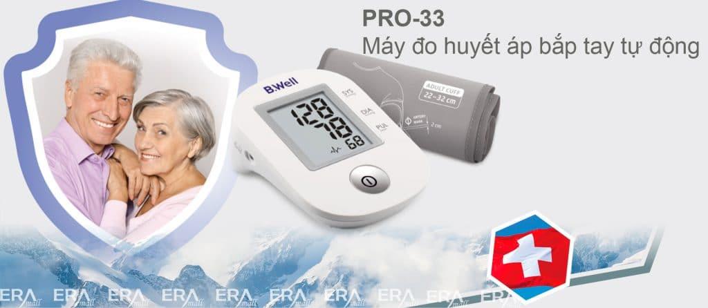 Máy đo huyết áp bắp tay B.Well PRO-33