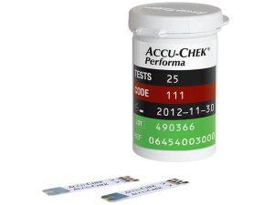 Hộp 25 que thử đường huyết Accu-Chek Performa (2)