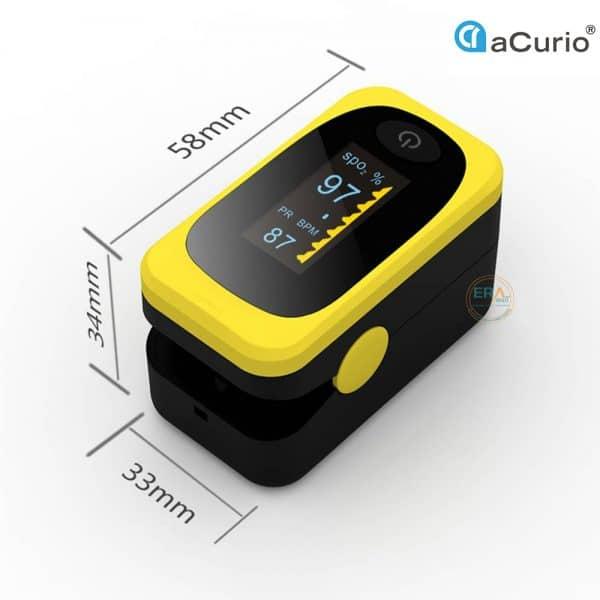 Máy đo nồng độ oxy SpO2 và nhịp tim Acurio AS-304_size
