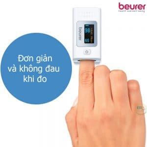 Máy đo nồng độ oxy máu SpO2 và nhịp tim Beurer PO35_2