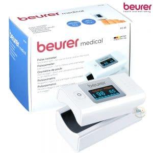 Máy đo nồng độ oxy máu SpO2 và nhịp tim Beurer PO35_box