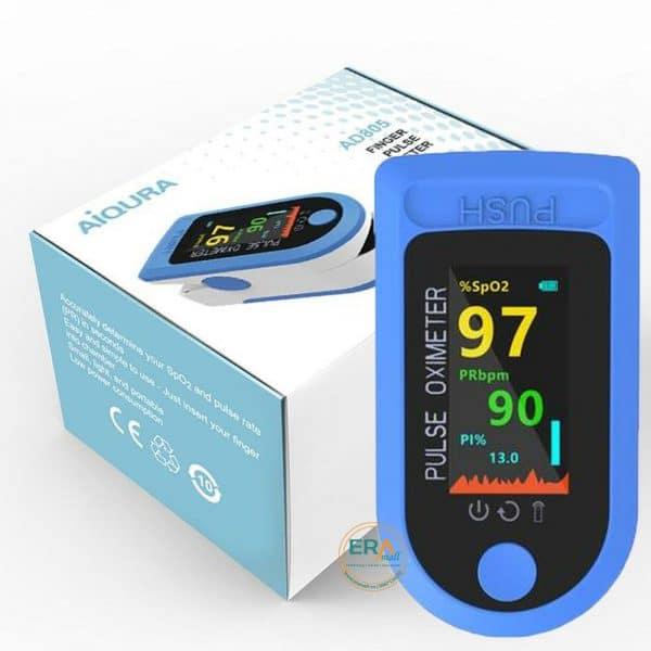 Máy SpO2 đo nồng độ oxy máu và nhịp tim AiQURA AD805