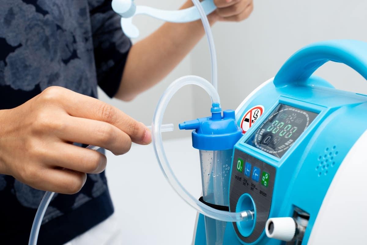 Máy tạo Oxy, Máy thở oxy (hay Oxygen Concentrator)_1