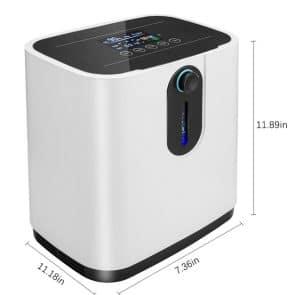 Máy tạo oxy HIDGEEM Plus 7 lít có xông khí dung-size