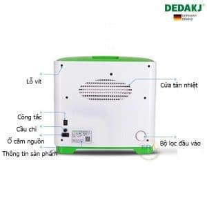 Máy tạo oxy có xông khí dung DEDAKJ DE-2AW 9Lít