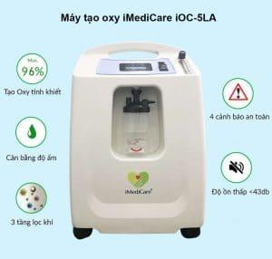 Máy tạo oxy gia đình iMediCare OC 5LA_tính năng