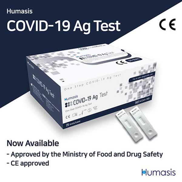 Hộp 25 test nhanh COVID19 Humasis Hàn Quốc